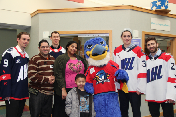 AHL All-Star Weekend Visits Shriner's Hospital